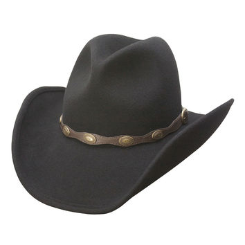 Shane Western Shapeable Wool Cowboy Hat (Black)