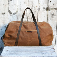 Military Waxed Canvas Duffel Bag