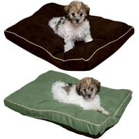 "Durable Suede Pet Bed, 27""L by 18"" W by 2"" H, Warm & Soft For Small Dogs & Cats"