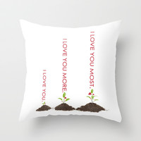 I love you more.. inspirational and romantic tangeled the movie quote Throw Pillow by studiomarshallarts