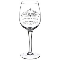 Enesco Insignia Maid of Honor Toasting Wine Glass