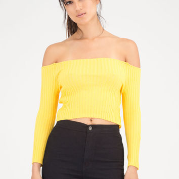 Little Things Ribbed Off-Shoulder Top GoJane.com