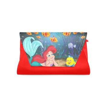 Designer Clutch Bag with The Little Mermaid Print