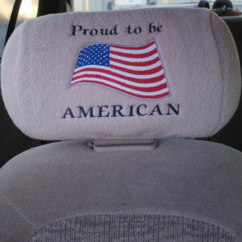 Headrest Covers with YOUR COUNTRY FLAG  for Any Car or Truck