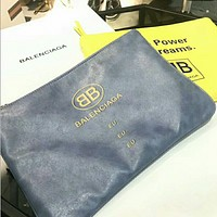Balenciaga 2018 new B letter casual fashion zipper clutch F0440-1