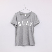 slay shirt loose neck bey