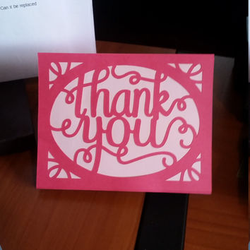 Handmade Thank You Card - Homemade - Personalized - Thank You Note - Add On - Friends - Thanks - Cute