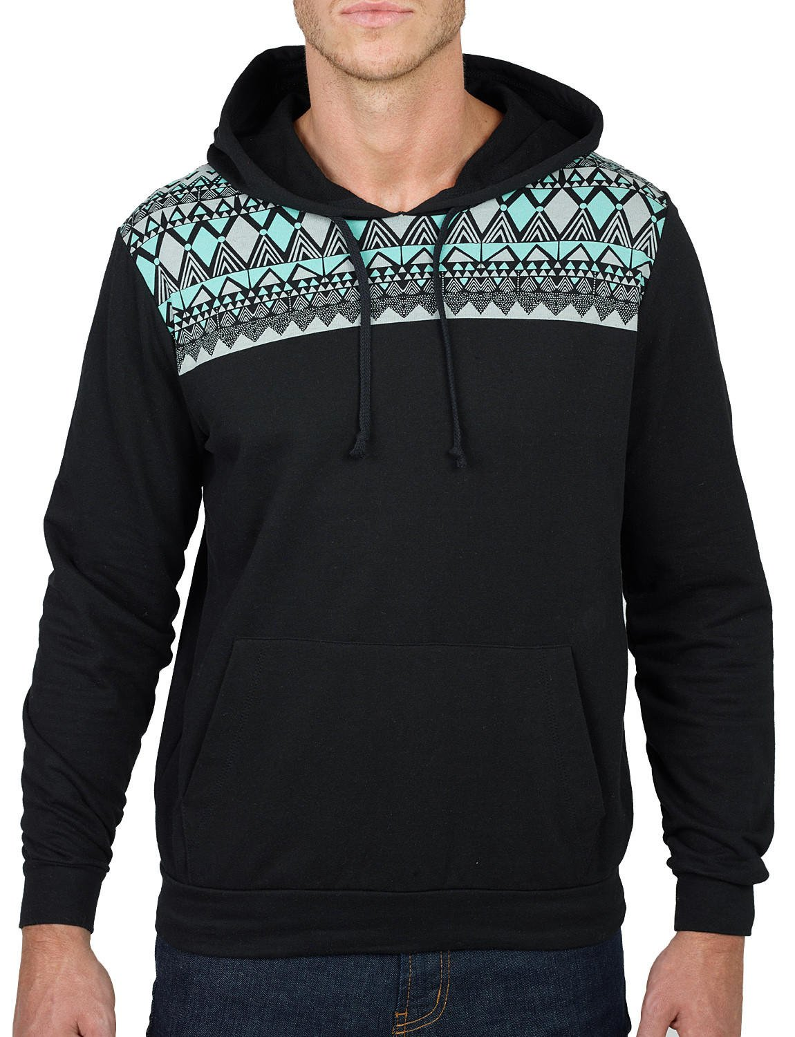Mens Lightweight Aztec Print Pullover from LE3NO