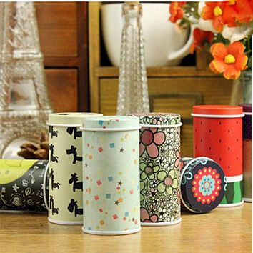 High quality Creative Mini Hat Meters tin Cans Circle Storage Tin Portable Tea Caddy