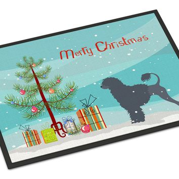 Portuguese Water Dog Merry Christmas Tree Indoor or Outdoor Mat 24x36 BB2986JMAT