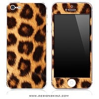 Spotted Leopard Print iPhone Skin