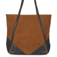 Suede and Leather Tote - Topshop