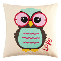 Owl Cotton Cushion Cover