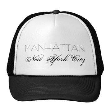 Manhattan New York City customizable Trucker Hat