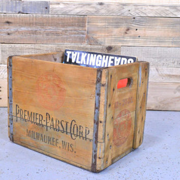 Vintage Pabst Crate, RARE, Premier Pabst Corp Crate, Milwaukee Wisconsin, Wood Beer Crate