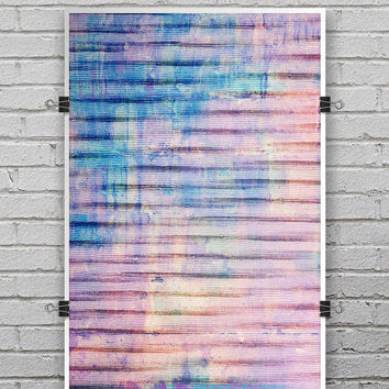 Dripping Blue Paint - Ultra Rich Poster Print