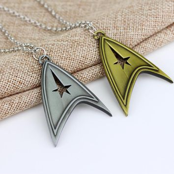 Jewelry Star Trek Enterprise Starfleet Command Logo Silver Bronze Metal Pendant Necklace