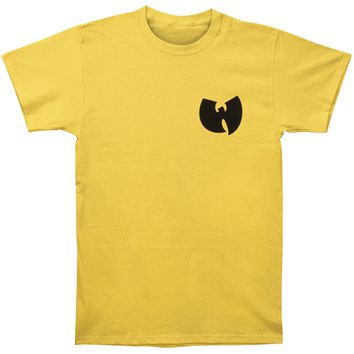 Wu Tang Clan Men's  RZA Mask Self Photo Slim Fit T-shirt Sunshine