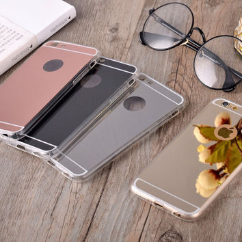 Luxury Plating Mirror Phone Case For iPhone