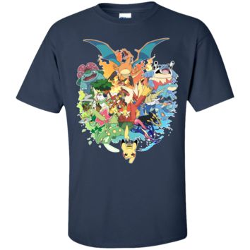 POKEMON - 20TH ANNIVERSARY STARTERS! T SHIRT