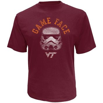 Star Wars College Virginia Tech Hokies Stormtrooper Game Face Tee