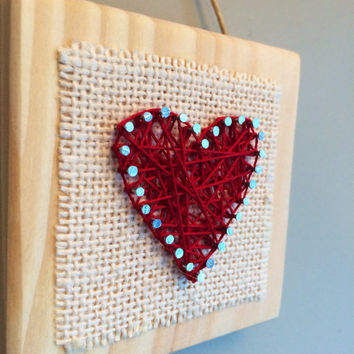 Love wall or shelf string art!