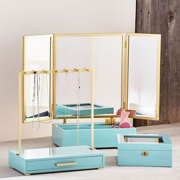 Lacquer and Brass Beauty Storage