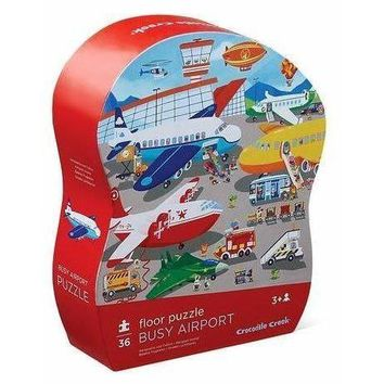 Crocodile Creek Busy Airport Shaped Floor Puzzle
