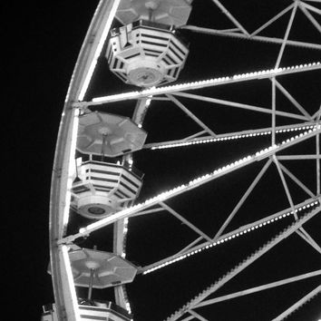 Carnival Print Digital Download Photography Black and White Printable Ferris Wheel Photography Art Print Instant Download Art Deco Print
