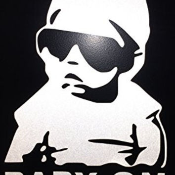 Baby on Board Carlos Hangover funny car vinyl sticker decal ****White Reflective Vinyl**** | High Visibility
