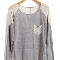Chiffon & Cotton Tees with Patch Pocket