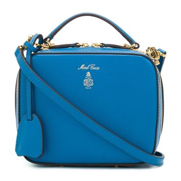 Mark Cross Baby Laura Bag - Blue Saffiano Adjustable Shoulder Strap Bag