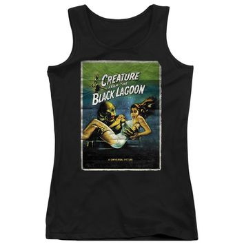 Creature from the Black Lagoon Juniors Tank Top Movie Poster Black
