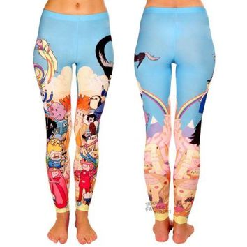 Adventure Time With Finn And Jake Cast Leggings