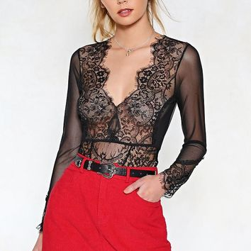 Love On Top Lace Bodysuit