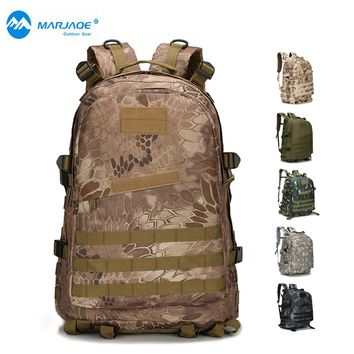 Mens Large Capacity Military Backpack Waterproof Travel Backpack 3D Attack Backpack Nylon Army Patrol Camouflage Rucksuck Bags