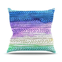 "Sreetama Ray ""Aqua"" Cool Paint Throw Pillow"