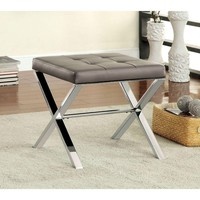 Astro Padded Faux Leather Tufted Ottoman