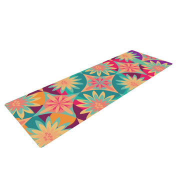 "Nika Martinez ""Happy Flowers"" Floral Abstract Yoga Mat"