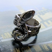 Curvy Snake Solid 925 Sterling Silver Ring Band | ShadowCat - Jewelry on ArtFire
