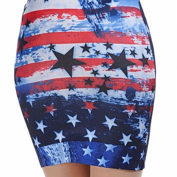 Skirt with American Flag Pattern