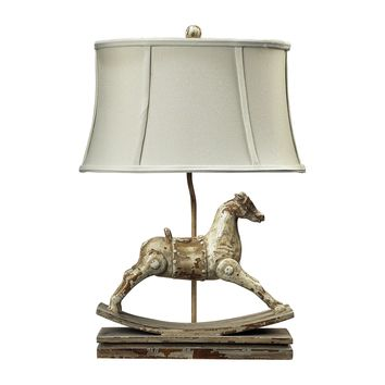 93-9161 Carnavale Rocking Horse Table Lamp in Clancey Court Finish - Free Shipping!