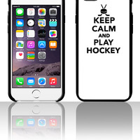 Keep calm and play Hockey 5 5s 6 6plus phone cases