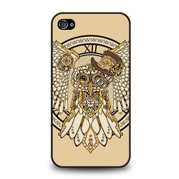 OWL STEAMPUNK iPhone 4 / 4S Case Cover