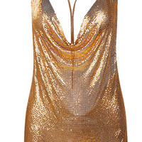 'Marina' Mesh Dress - Gold