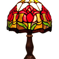 Tiffany Style Tulips Table Lamp 14 Inches High
