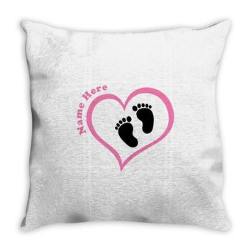 Custom baby girl name maternity design Throw Pillow
