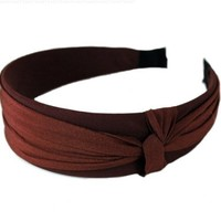 Hot Cocoa, Yummy Chocolate Brown, Super Gorgeous Elegant Knotted Hard Headband