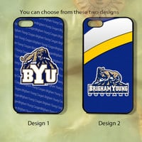 Brigham Young Cougars -iPhone 5, 5s, 5c, 4s, 4 case,Ipod touch 4, 5,  Samsung GS3, GS4, GS5 Rubber or Hard Plastic Case, Phone cover