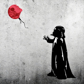 Little Vader - Inspired by Banksy Art Print by Kamonkey